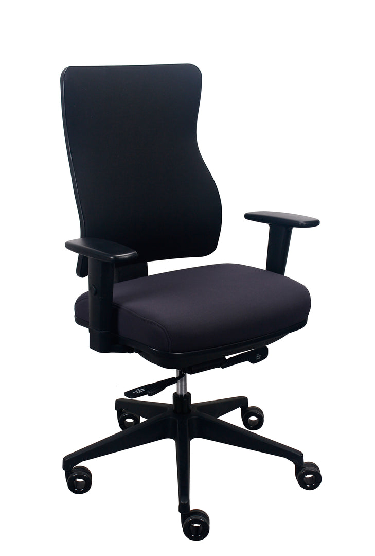 "26.5"" x 23"" x 36.69"" Black Seat Fabric Chair"