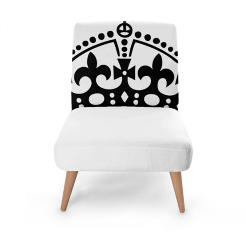 White Crown Accent Occasional Chair