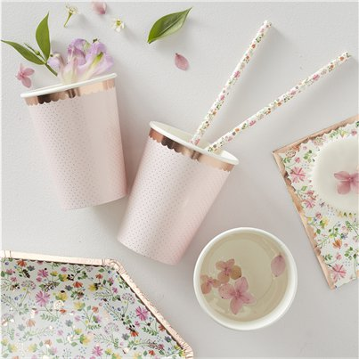 Ditsy floral cups