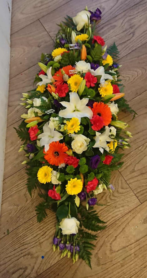 3ft Bright funeral spray
