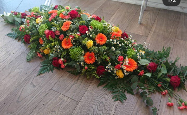 4ft Autumn casket spray