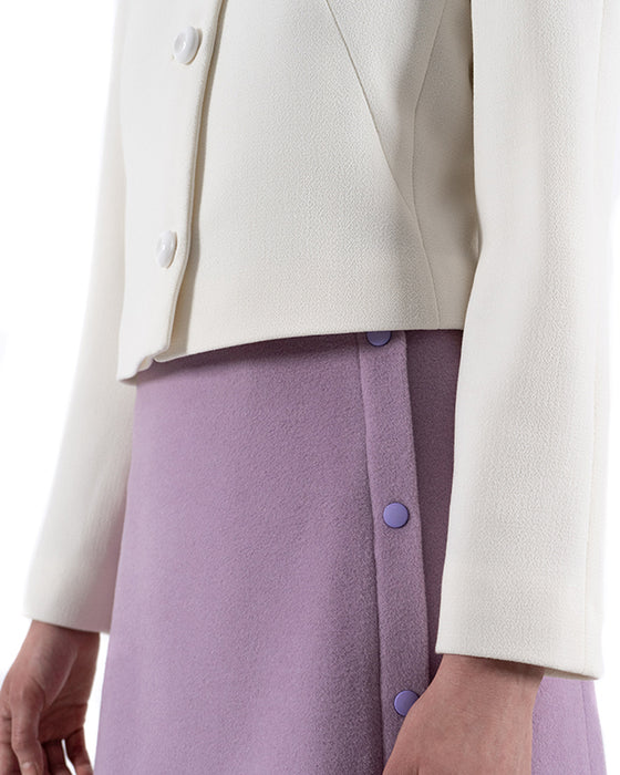 GRACE double wool crepe jacket