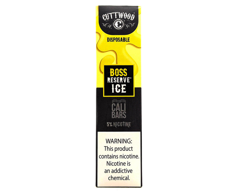 Cuttwood x Cali Bar 5% Disposable Device, Boss Reserve Ice