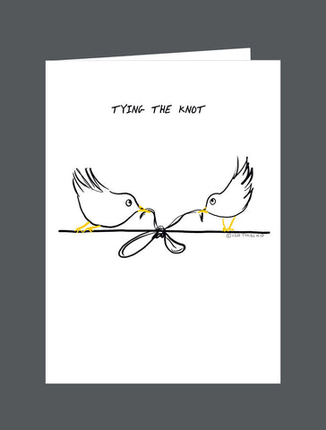 Tying The Knot   Congratulations On A Perfect Bond - Card