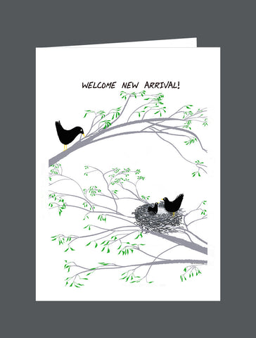 Welcome New Arrival!   Now The Fun Begins! - Card