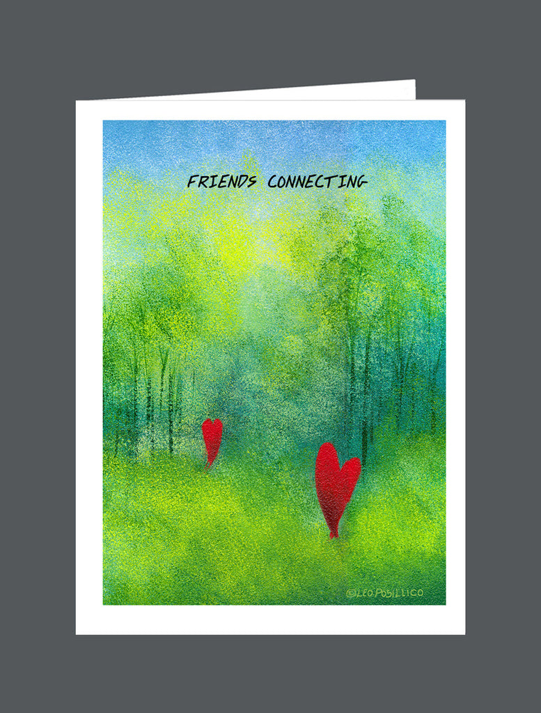Friends Connecting - Card