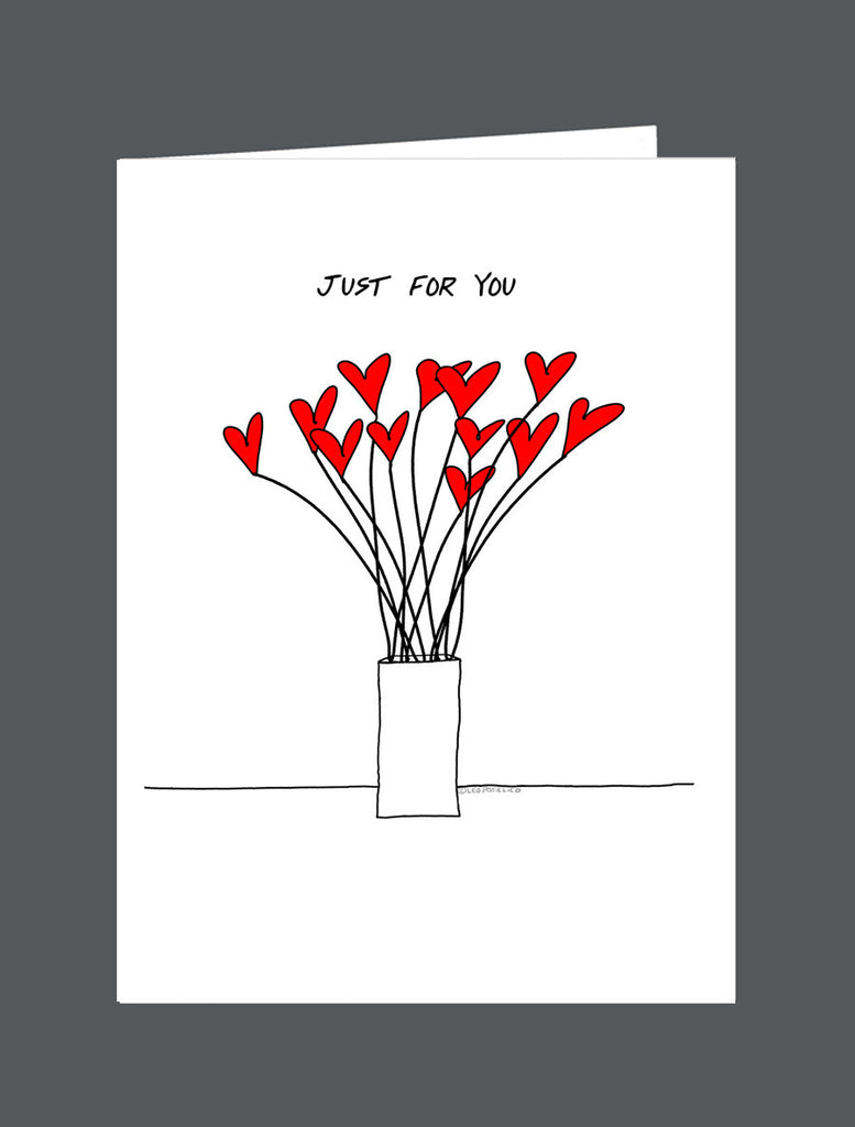 Just For You  From Me - Card