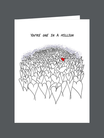 You're One In A Million - Card