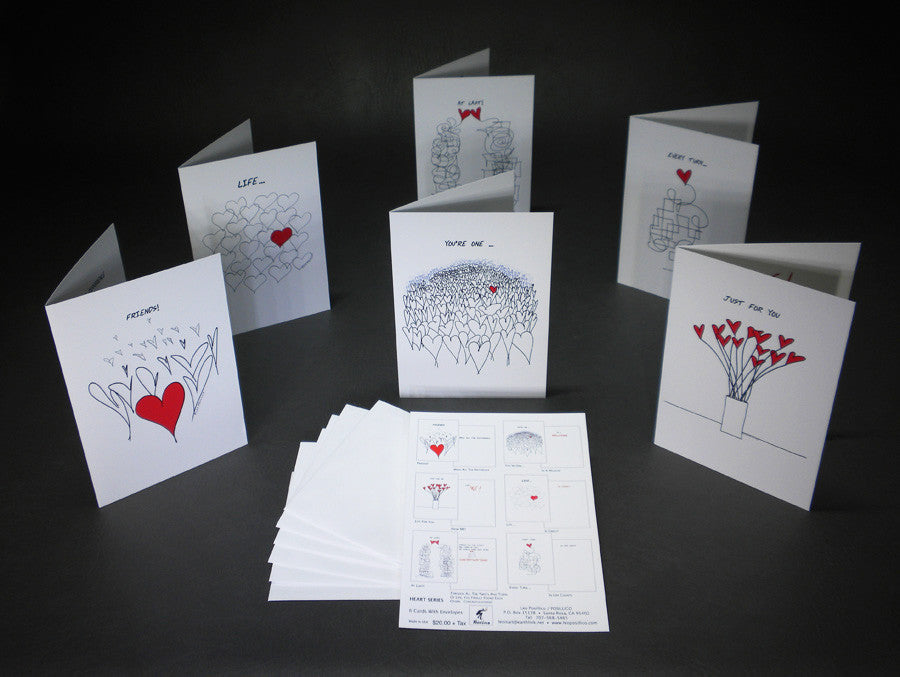Heart Series Greeting Card Pack