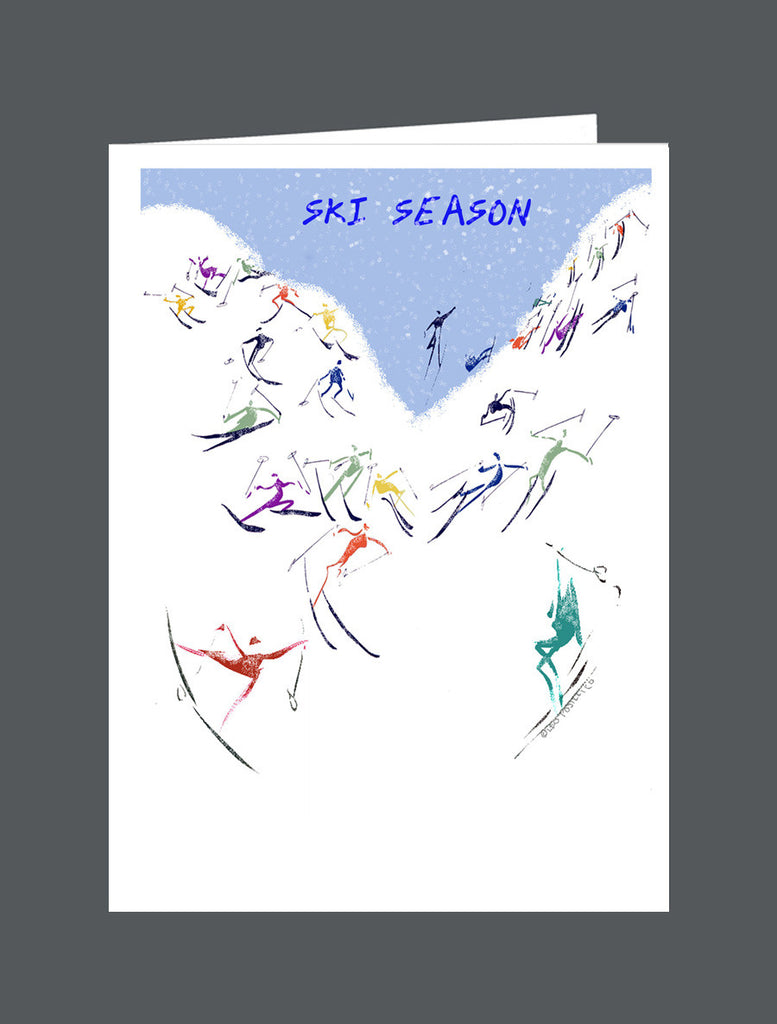 Ski Season  Happy Holidays - Card