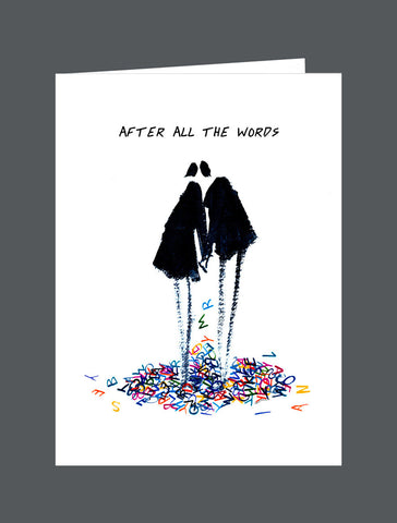 After All The Words  - Card