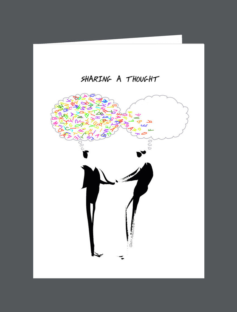 Sharing A Thought - Card