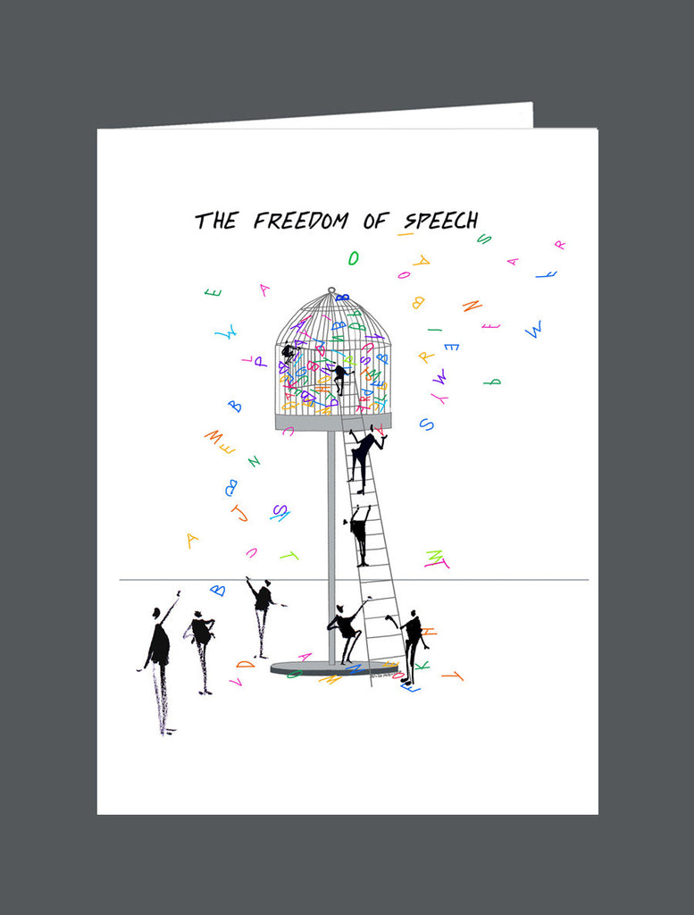 The Freedom Of Speech - Card