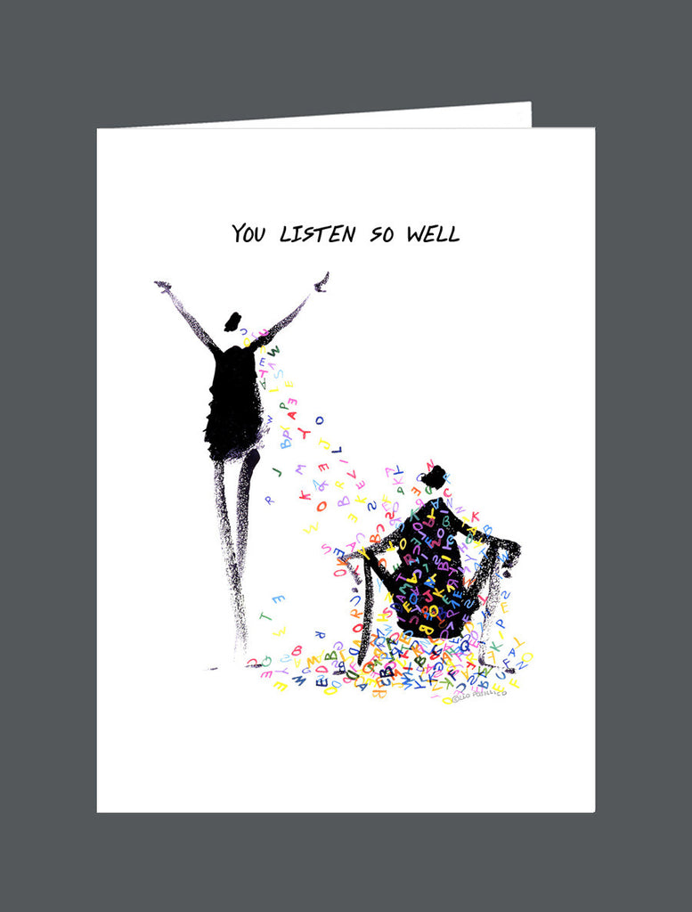 You Listen So Well - Card