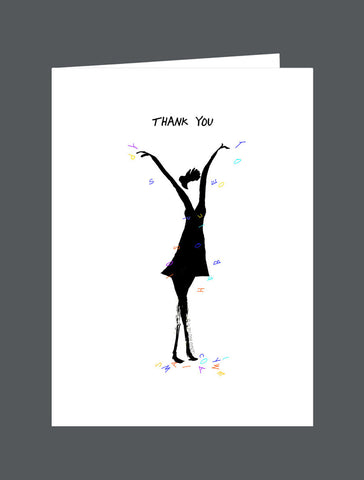 Thank You (Female) - Card