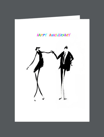 Happy Anniversary   Keep The Dance Going! - Card