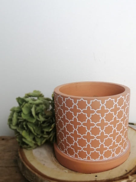 Star Pattern Terracotta Pot