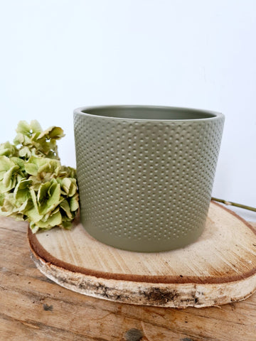 Green Dimple Pot Large
