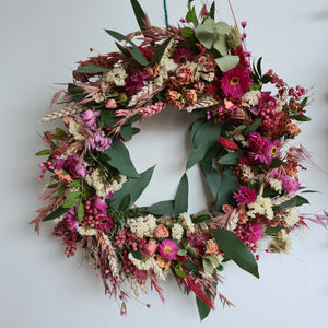 Luxury Dried Floral Wreath