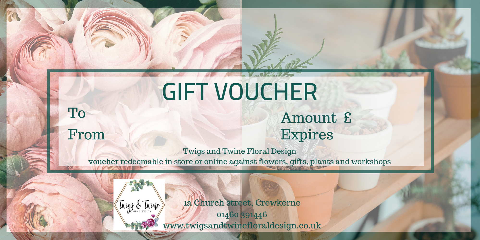 £50 Twigs and Twine Gift Voucher