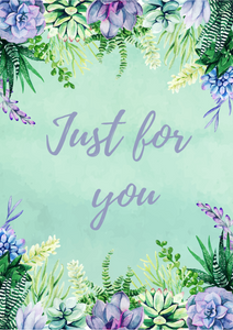 'Just for you' greetings card