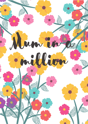 'Mum in a million' greetings card