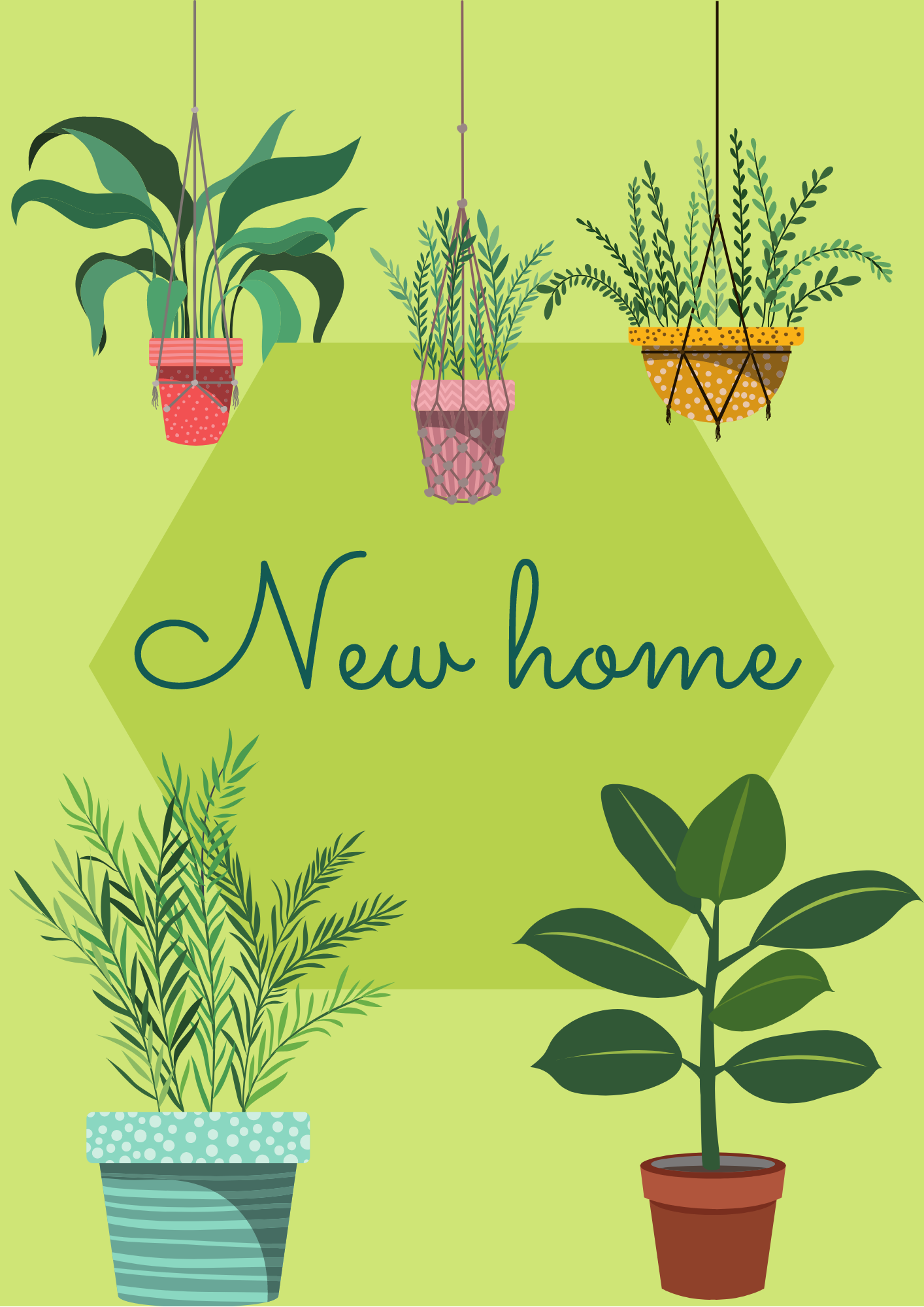 'New home' greetings card