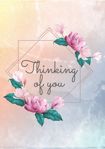 'Thinking of you' greetings card