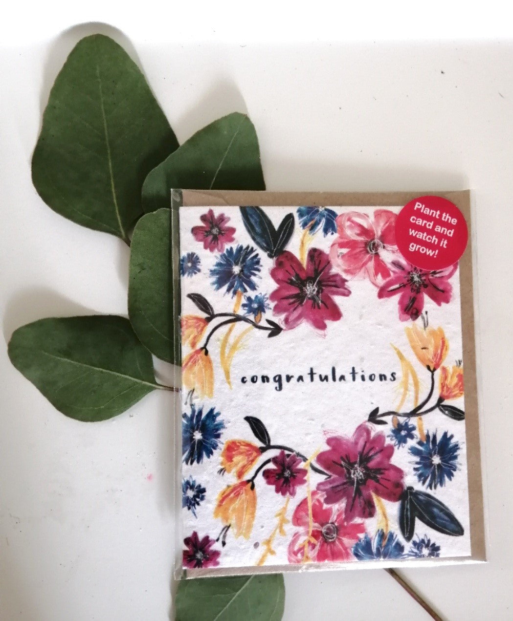 'Congratulations' seed card