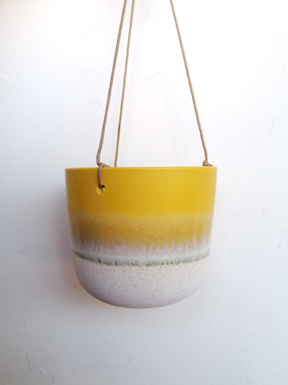ombre glazed hanging pot