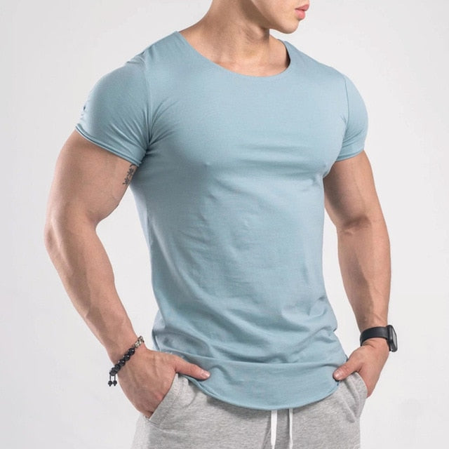Bodybuilding Cotton Skinny t shirt