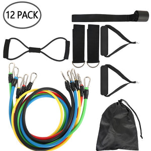 12Pcs/Set Resistance Bands Set