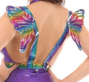 Daisy Corsets Rainbow Body Harness With Small Wings
