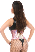 Load image into Gallery viewer, Daisy Corsets Pink Holo Underbust Steel Boned Waist Cincher (S-5xl)