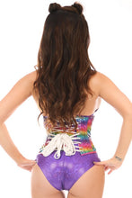 Load image into Gallery viewer, Daisy Corsets Rainbow Glitter Lace Up Cincher (S-5xl)