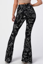 Load image into Gallery viewer, Constellation Print Fitted Flare Pants