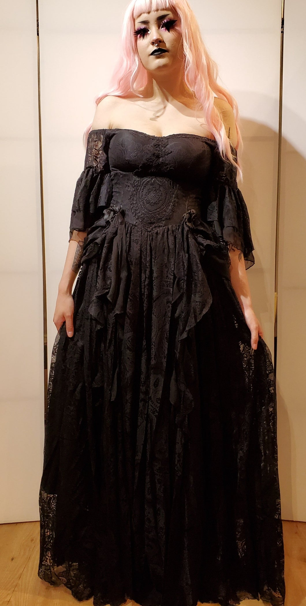 Punk Rave Black Ball Gown