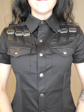 Load image into Gallery viewer, Punk Rave Gothic Military Top