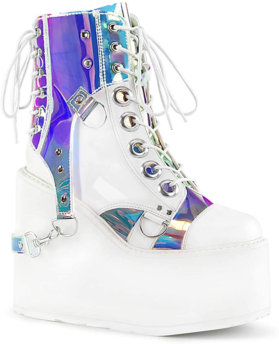 Demonia Swing-115 White Vegan Leather