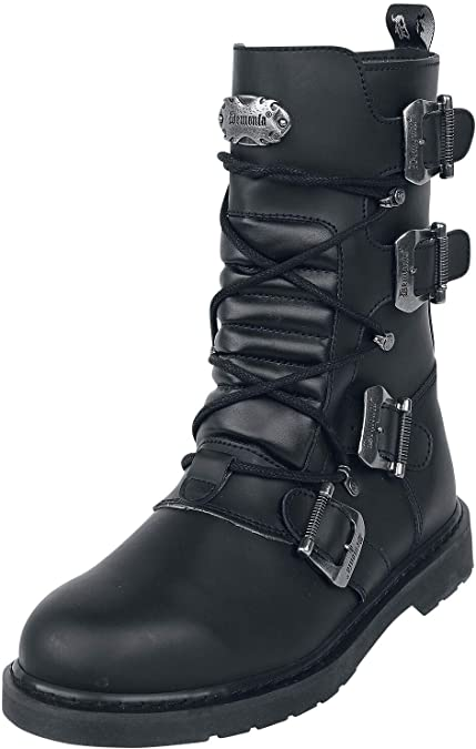 Demonia Bolt-265 Mens Buckle Combat Boots
