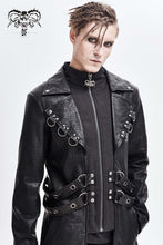 Load image into Gallery viewer, Devil Fashion Men's Gothic Vegan Leather Duster Jacket