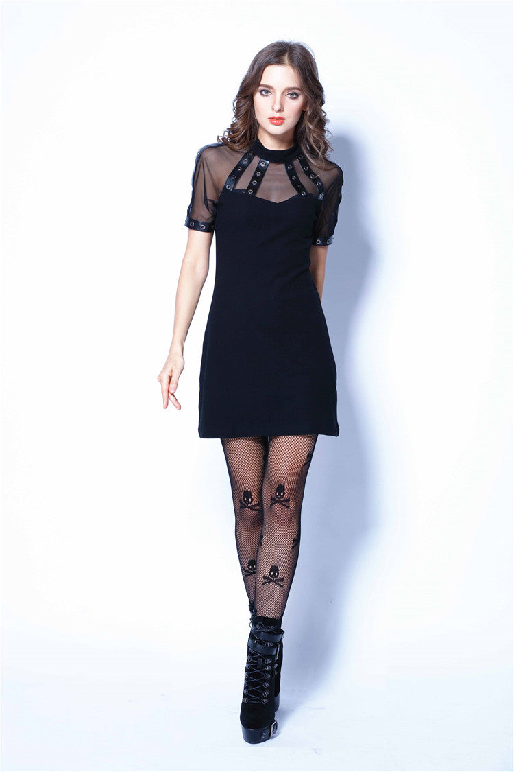 Dark in Love Short-Sleeved Punk Tee Dress