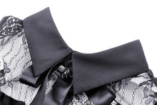 Load image into Gallery viewer, Dark in Love Gothic Lolita Cold Shoulder Collar Bow Dress