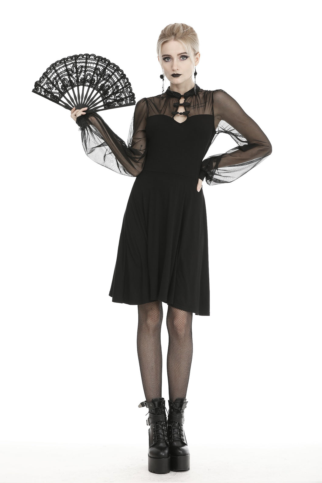 Dark in Love Gothic Butterfly Mesh Dress