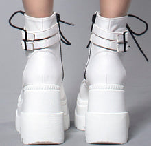 Load image into Gallery viewer, Demonia Shaker-52 White Vegan Leather