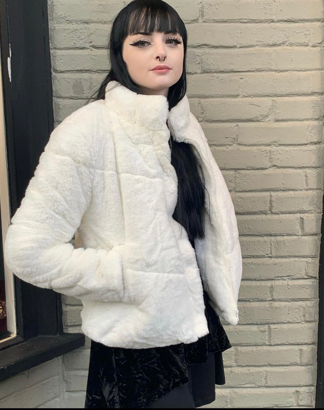 Super Soft Faux Rabbit Fur Coat