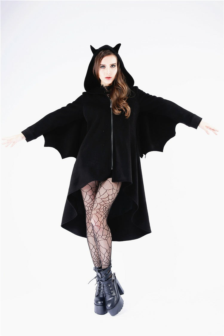 Dark in Love Night Flyer Hooded Bat Coat