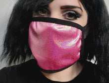 Load image into Gallery viewer, Fuchsia Sparkly Mask