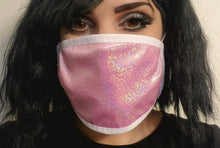 Load image into Gallery viewer, Pink Sparkly Adjustable Mask