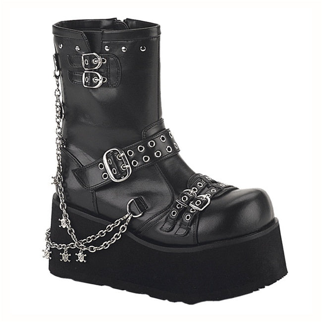 Demonia Clash-430 in Black Vegan Leather